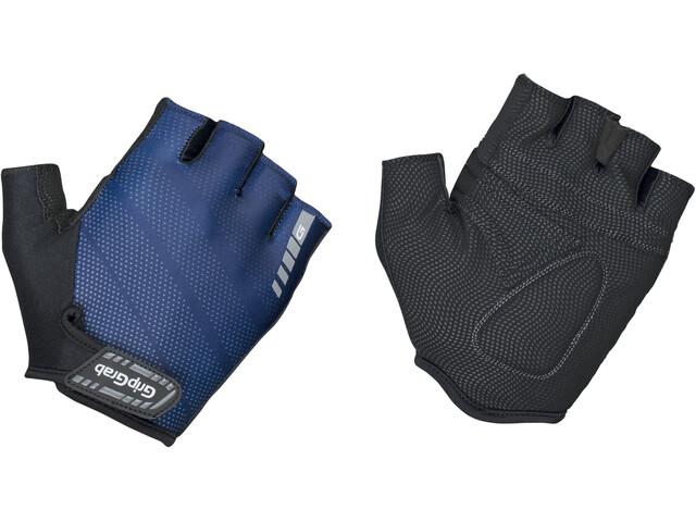GripGrab Rouleur Gevoerde Halve Vinger Handschoenen, blauw/zwart